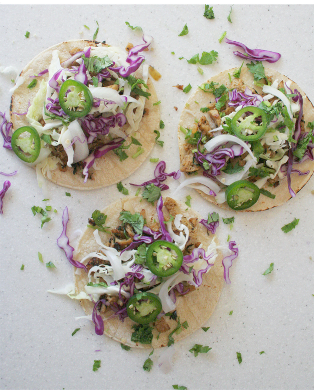 chile verde tacos