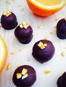 Jaffa chocolate truffles