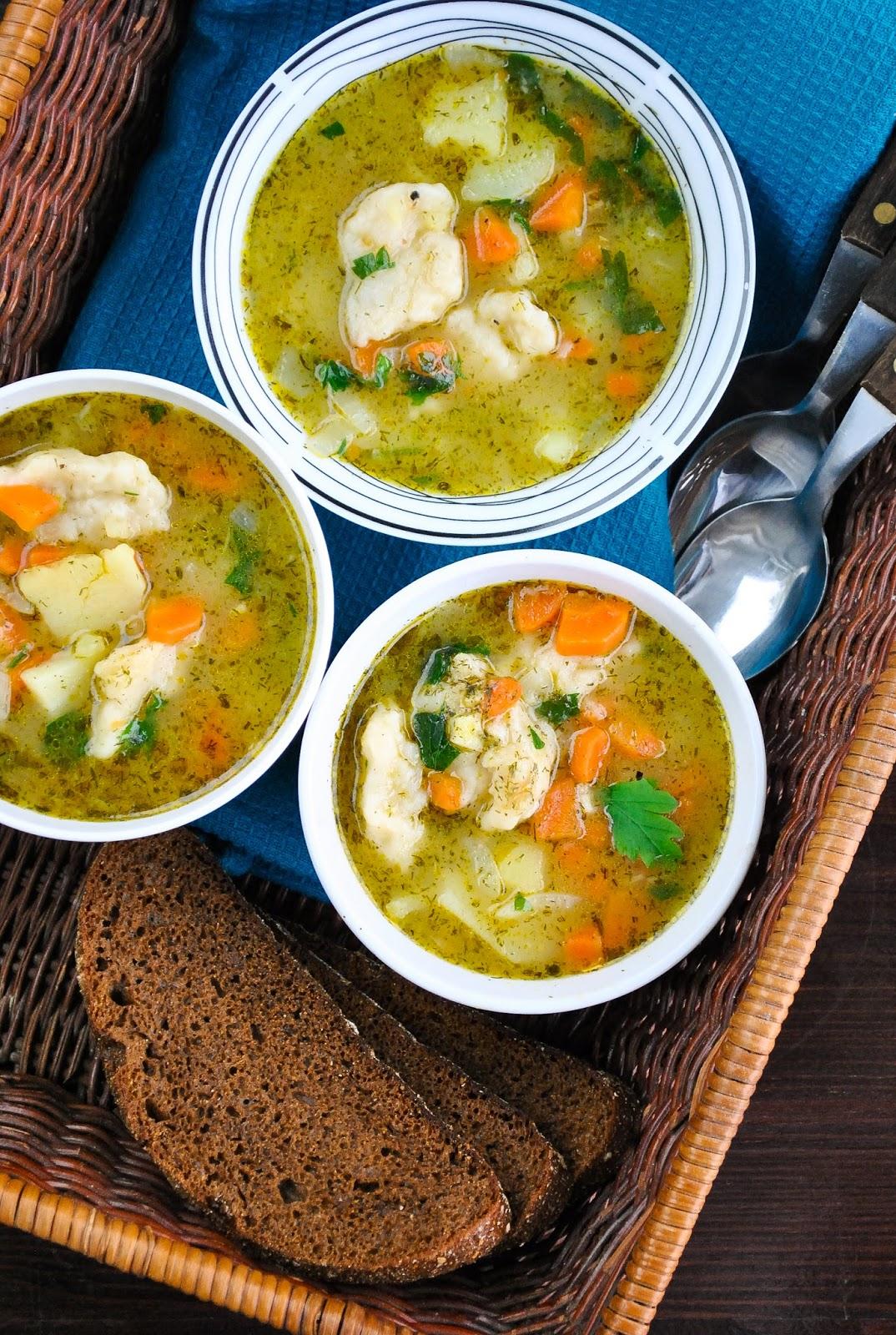 Vegetable and dumpling soup 2