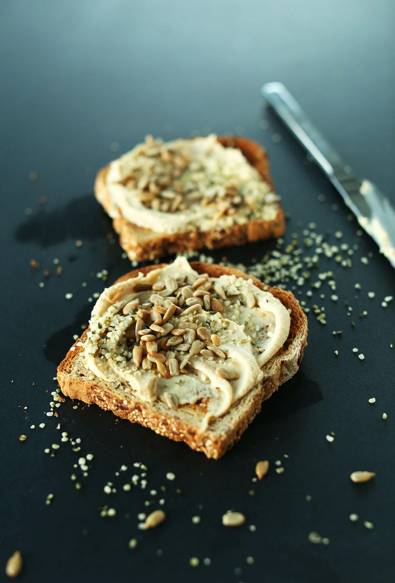 Hummus-on-Toast-Vegan-Meal-Ideas