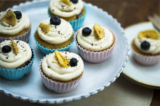 Gluten Free Blueberry and Banana Muffins copy