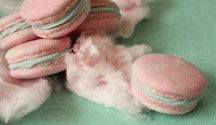candy floss macarons