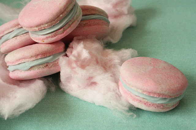 candy floss macarons