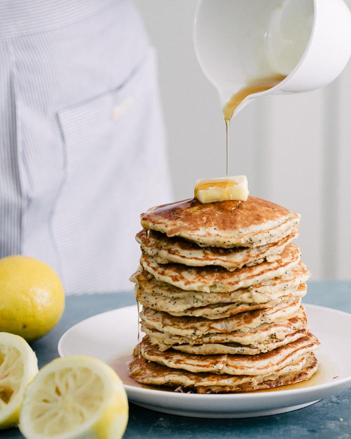 34. Lemon Poppyseed Oat Pancakes