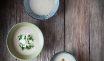 Cauliflower soup with dukkah