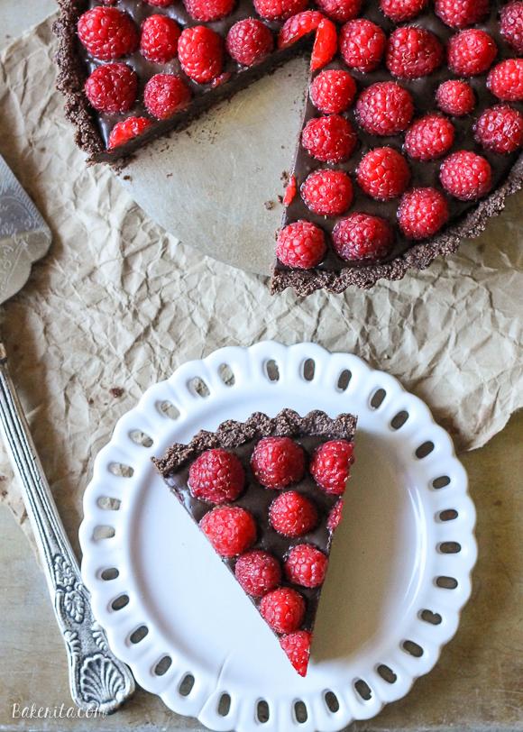 No-Bake-Raspberry-Chocolate-Truffle-Tart-Paleo-12