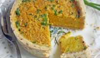 Mini Cheese and Chive Vegan Quiche