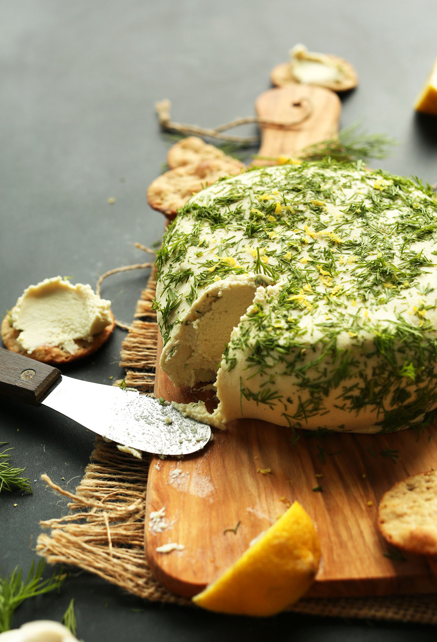 EASY-Creamy-VEGAN-CHEESE-Infused-with-lemon-zest-garlic-and-dill.-So-creamy-savory-and-cheesy-vegan-plantbased-glutenfree-cheese-recipe-minimalistbaker