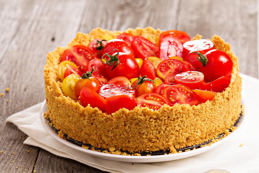 Tomato and Basil Cheesecake
