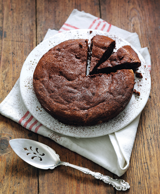 Squidgy Chocolate, Almond And Prune Torte