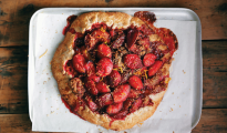 Hazelnut, plum and cinnamon tart
