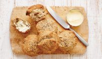 Gluten-free seeded brown rolls