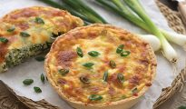 Gluten-free cheese and onion tart