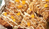 Apricot & white chocolate gluten-free flapjacks