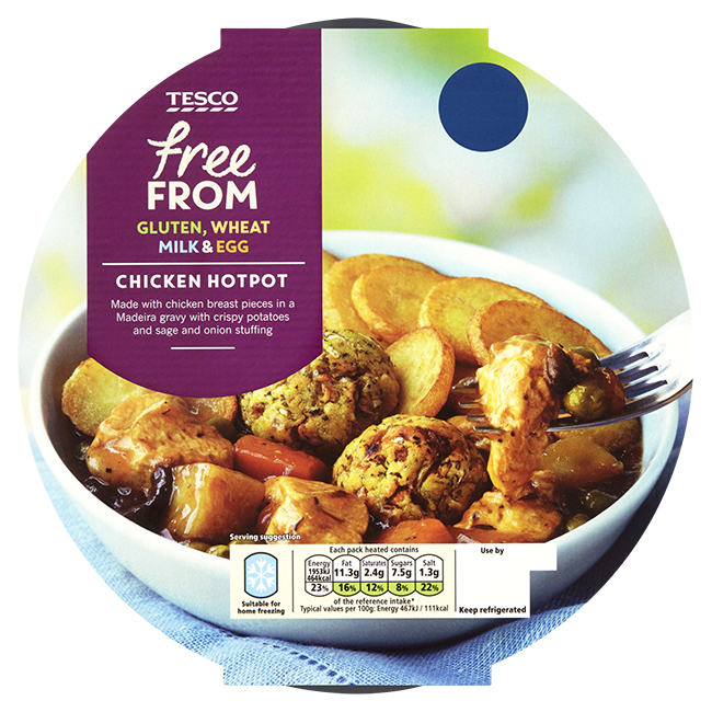 Tesco Launches Brand New Range Of Chilled Free From Ready