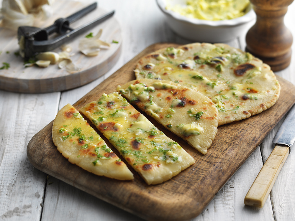 Gluten-free garlic flatbread