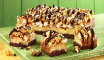 Gluten-free popcorn fudge brownies