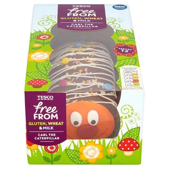 Tesco Launch Dairy Free Carl The Caterpillar Cake