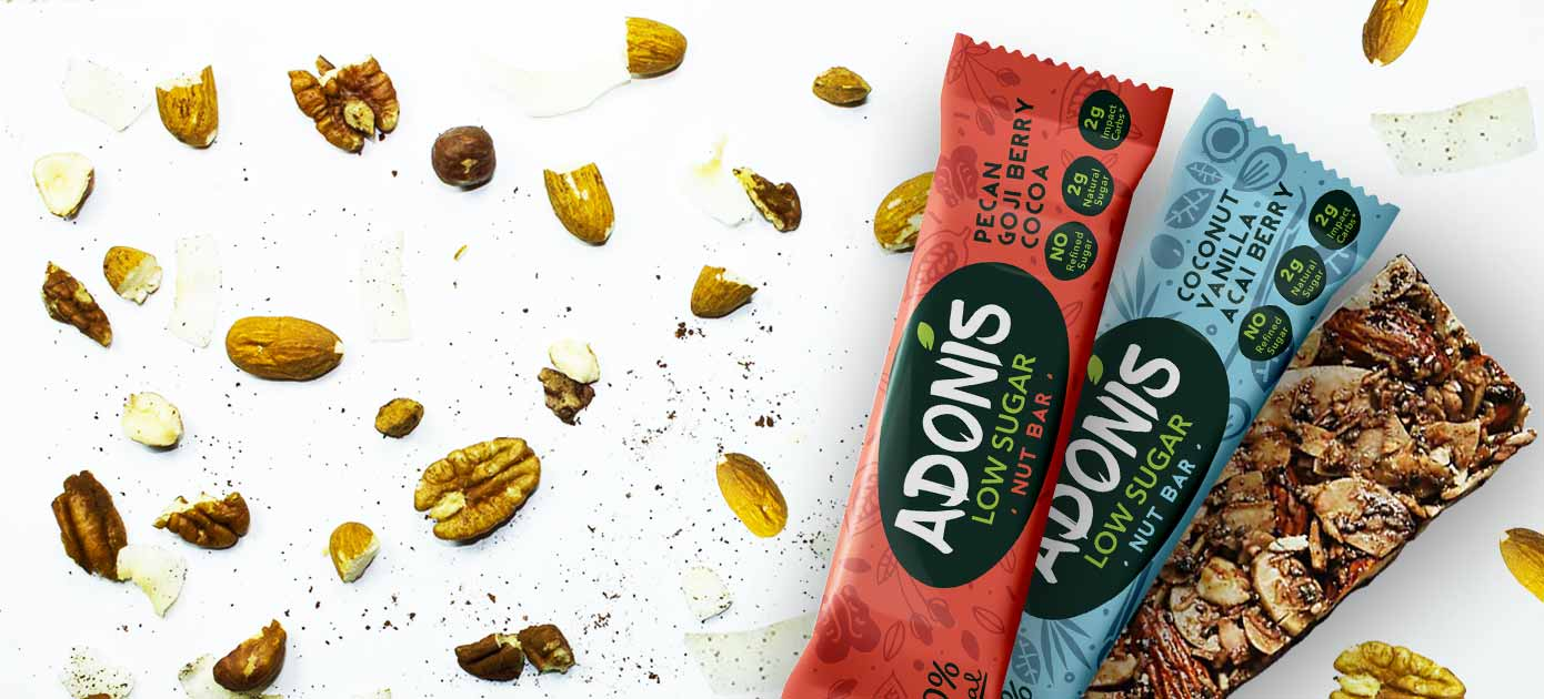 Tasty New Snack Bars That Wont Spike Your Blood Sugar Levels Up Adonis Smart Foods The Low Start Introduces Two Crunchy Nut Will Keep Energy And Highs This Summer