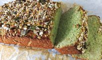 Gluten-free broccoli & banana bread