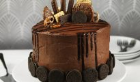 Gluten-free chocolate O's cake