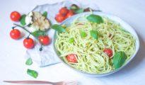 Creamy avocado gluten-free pasta