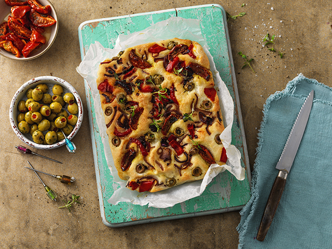 This tasty Italian style gluten-free flatbread is perfect served alongside pasta dishes or on its own as a starter with olive oil and balsamic vinegar.