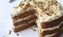 Grain-free pumpkin cake with cashew buttercream