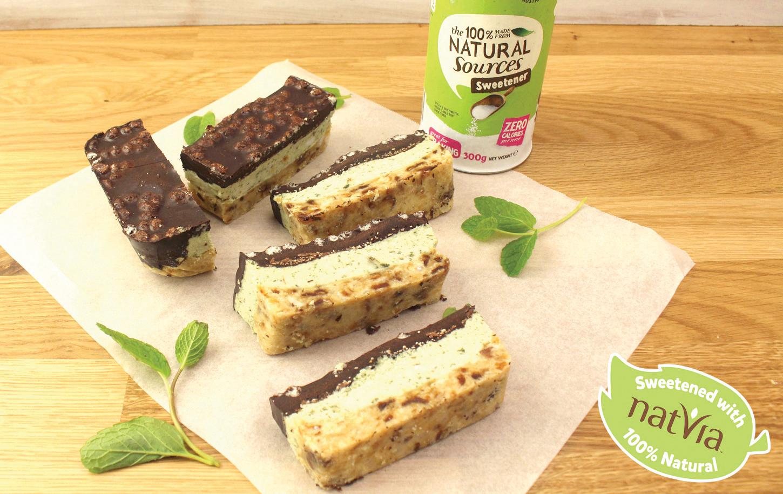 Sugar-free mint slice