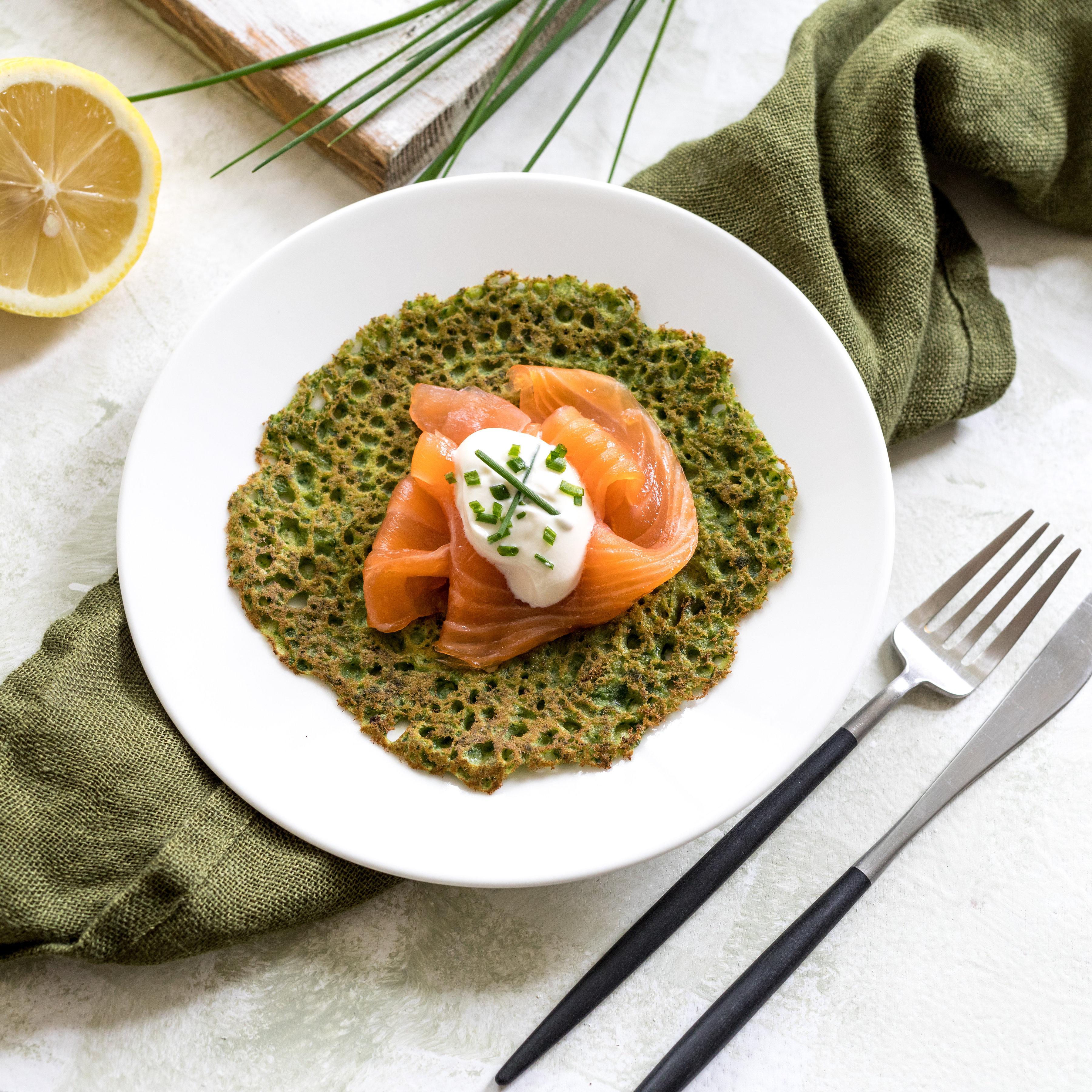 Gluten-Free Spinach & Buckwheat Pancakes