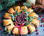 Dairy and Gluten-Free Butternut Squash & Mushroom Christmas Wreath
