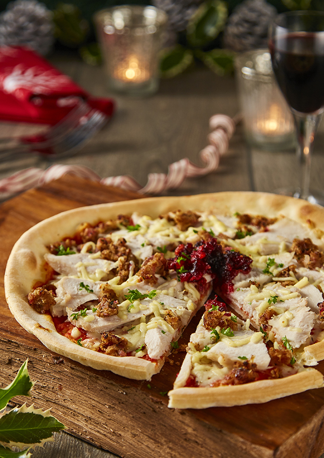 Gluten-free Boxing Day pizza