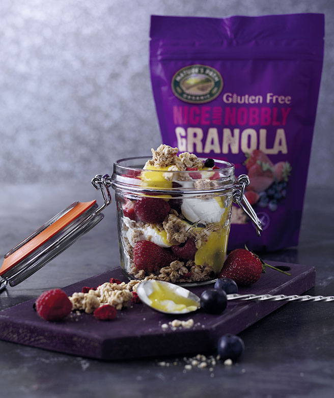 Nice & Nobbly fruit and yoghurt parfait