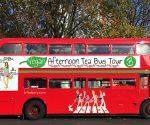 vegan afternoon tea tour bus