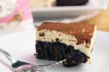 Sugar-free brownie cheesecake
