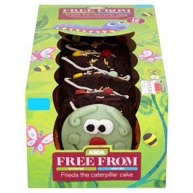 Asda has just launched a brand new 'free from' chocolate caterpillar cake that is gluten and dairy-free so that everyone can have a slice.