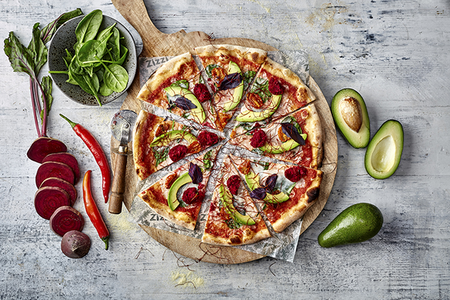 zizzi rainbow pizza
