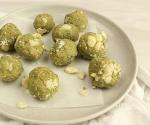 Matcha, almond and macadamia balls