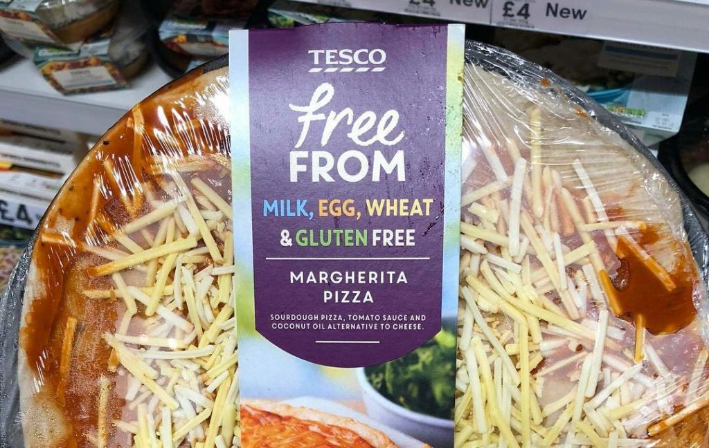 Tesco Releases A Gluten And Dairy Free Margherita Pizza