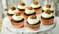 Gluten-free beetroot cupcakes