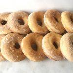 Baked gluten-free cinnamon sugar doughnuts
