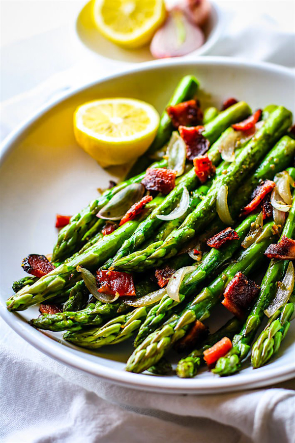 Candied Bacon and Asparagus