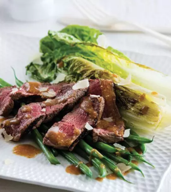 steak and romaine hearts