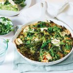 Goats cheese & greens frittata