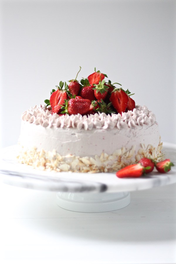Strawberry Cake with Buttercream