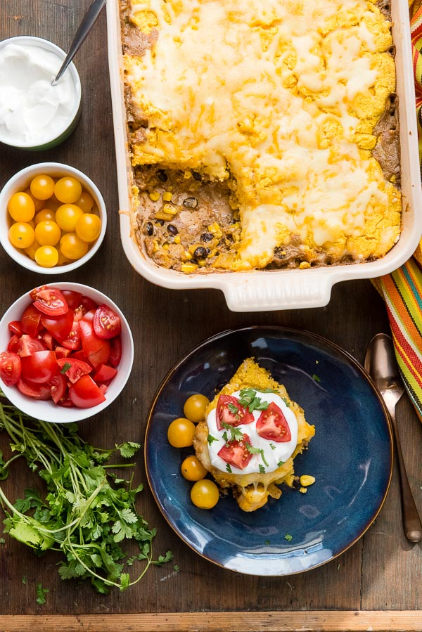 gluten-free pumpkin tamale pie