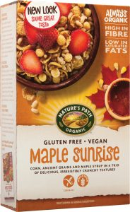 Maple sunrise gluten-free cereal