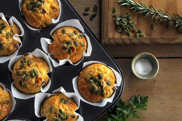 gluten-free pumpkin savoury muffins