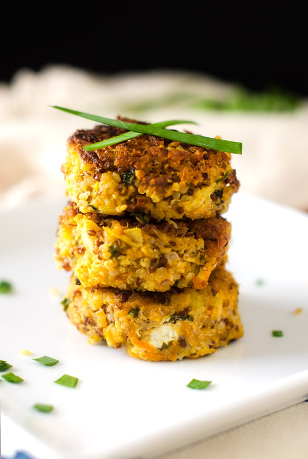 gluten-free pumpkin quinoa patties