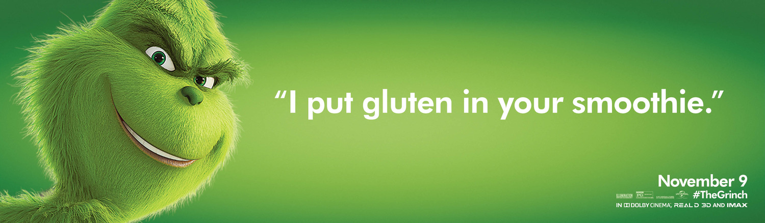 the grinch adverts gluten free